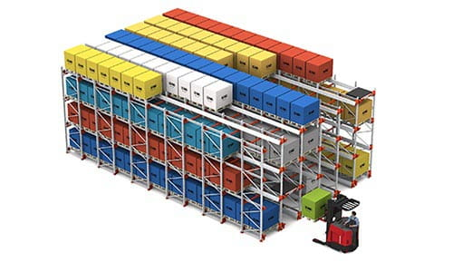 automated storage and retrieval system, FILO, pallet shuttle