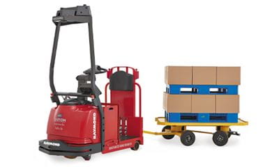 automated tow tractor, automated forklift, automated guided vehicle