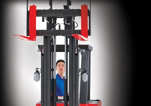 Raymond 4250 Stand Up Counterbalanced Truck Operator through Clear View Mast