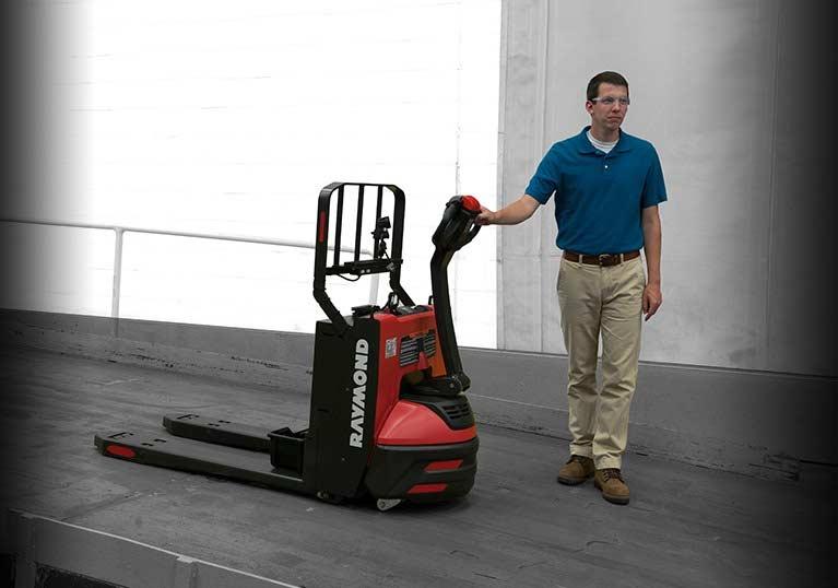 Raymond 8210 walkie pallet jack with antiroll braking