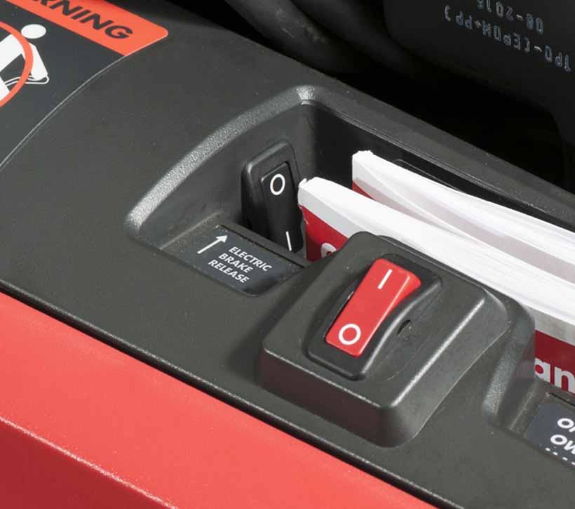 Raymond Power Pallet Jack, Motorized Pallet Jack electric brake release