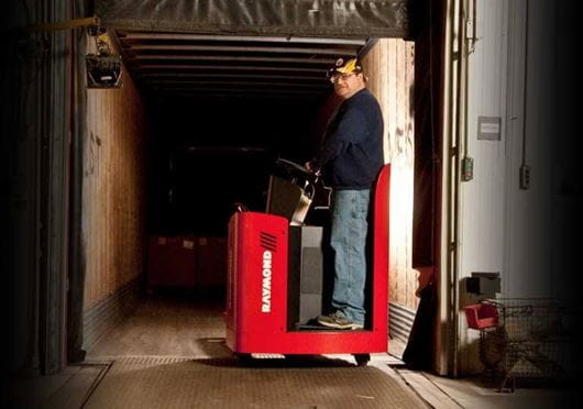 Raymond 8900 Riding Pallet Truck with PowerSteering