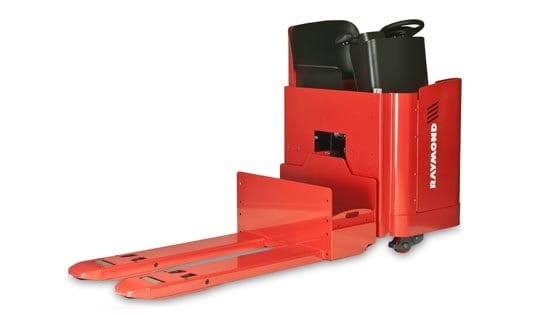 Raymond 8900 Riding Pallet Truck Control Handle with debris diverting bumper