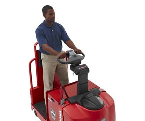 Raymond Tow Tractor ergonomic walk-through compartment