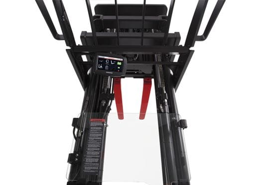 high capacity reach truck, integrated display