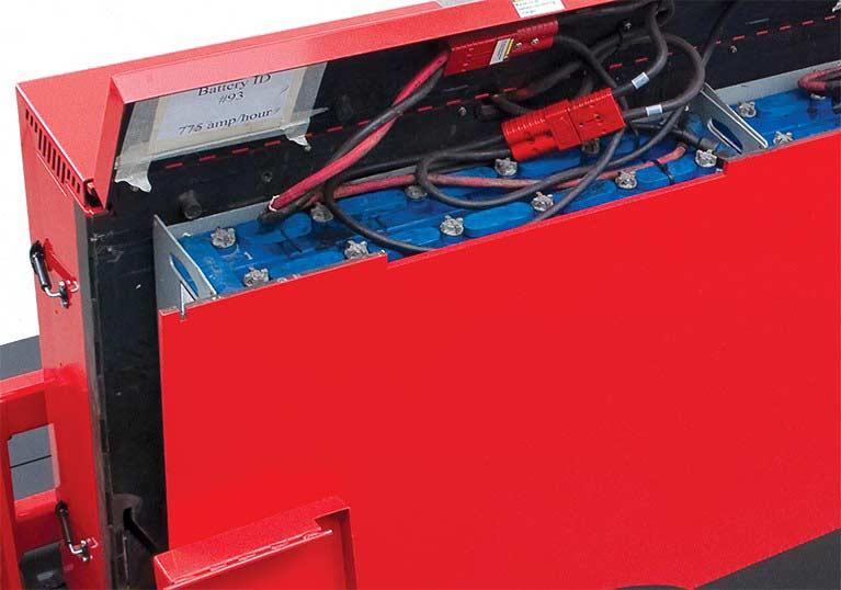 Raymond Sideloader Easy Battery Access