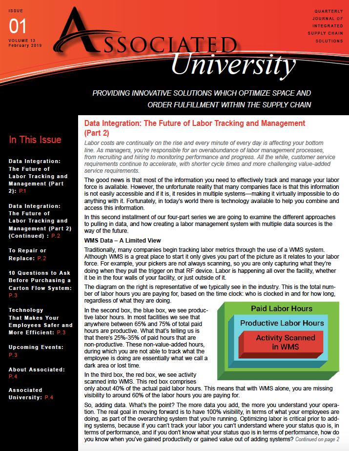 Associated University Newsletter