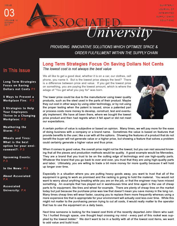 Associated University Journal - October 2017